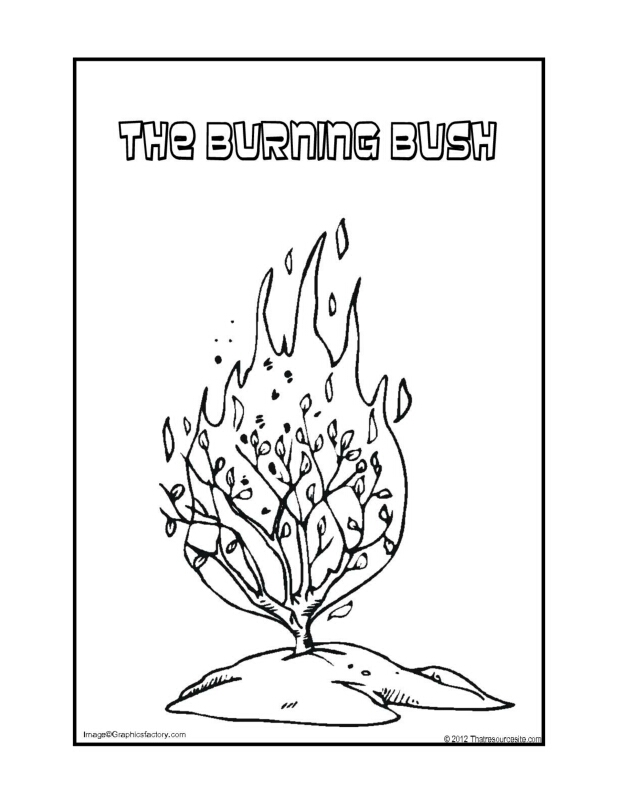 The Burning Bush Coloring Page