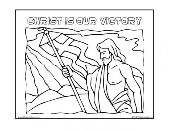 Christ Is Our Victory Coloring Page