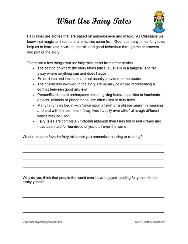 What Are Fairy Tales? Worksheet