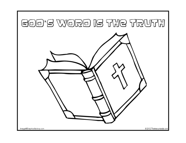 God's Word Is the Truth Coloring Page - That Resource Site
