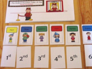 Ordinal Numbers Go to the Movies Math Game