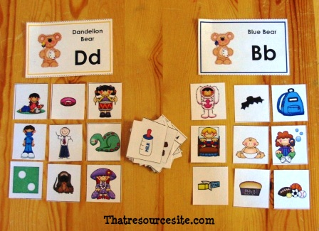 Bear Brothers Phonics Game with B and D