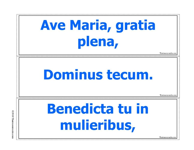 Ave Maria Prayer Game