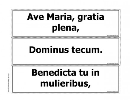 Ave Maria Prayer Game B/W