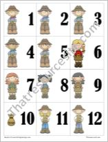 Cowboy Themed Math Counters