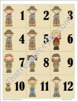 Cowboy Themed Math Counters with Brown