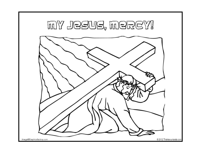 My Jesus, Mercy Coloring Page