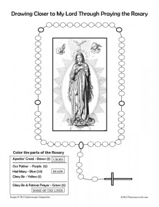 Printables Parts Of The Rosary Worksheets worksheet davezan rosary davezan