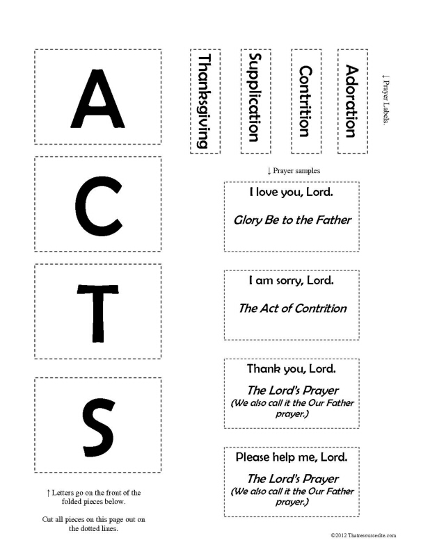 Prayer (ACTS) F3 Activity