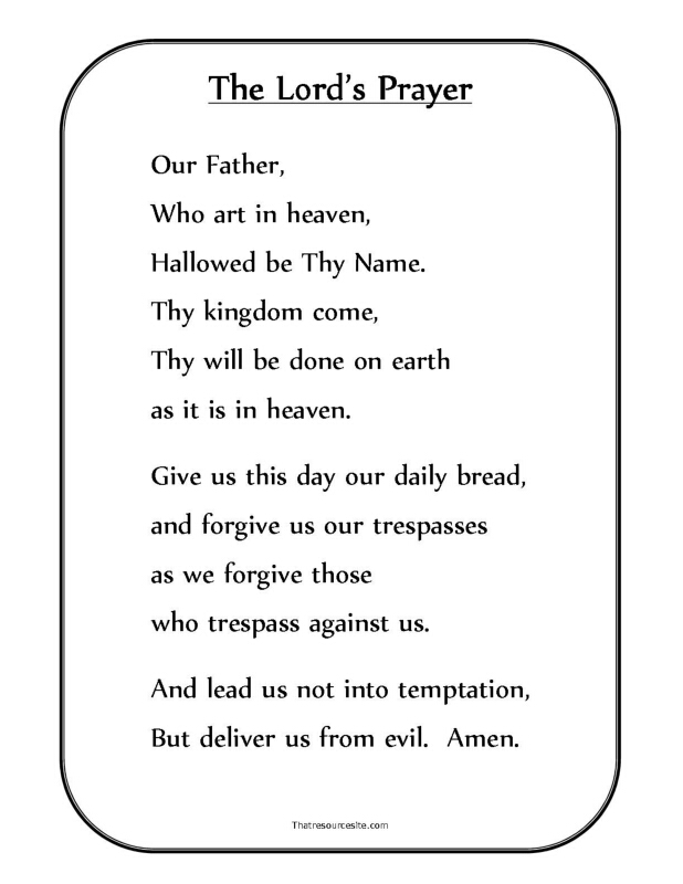 This is a photo of Refreshing The Lord's Prayer Printable