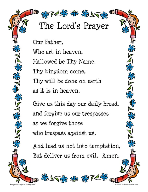 photograph about Printable Catholic Prayers named Our Dad Printable Prayer Sheet - That Tool Web-site
