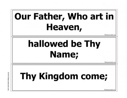 Our Father Prayer Game B/W