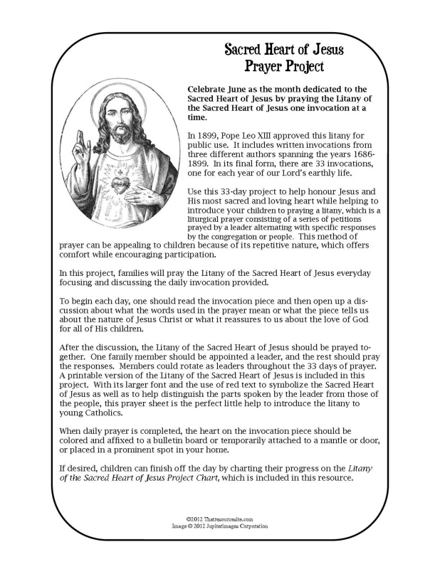 Sacred Heart of Jesus Family Prayer Project