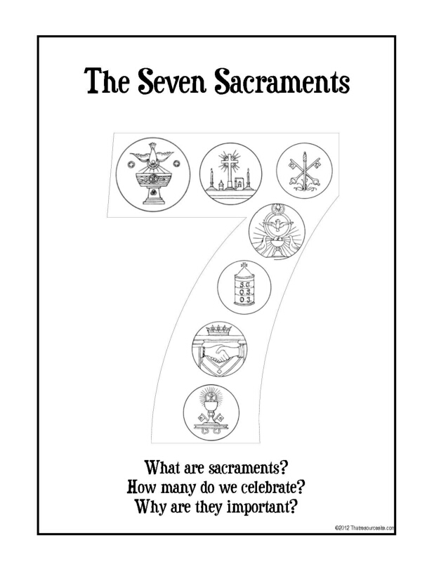 Seven Sacraments Coloring Pages Free | Coloring Pages