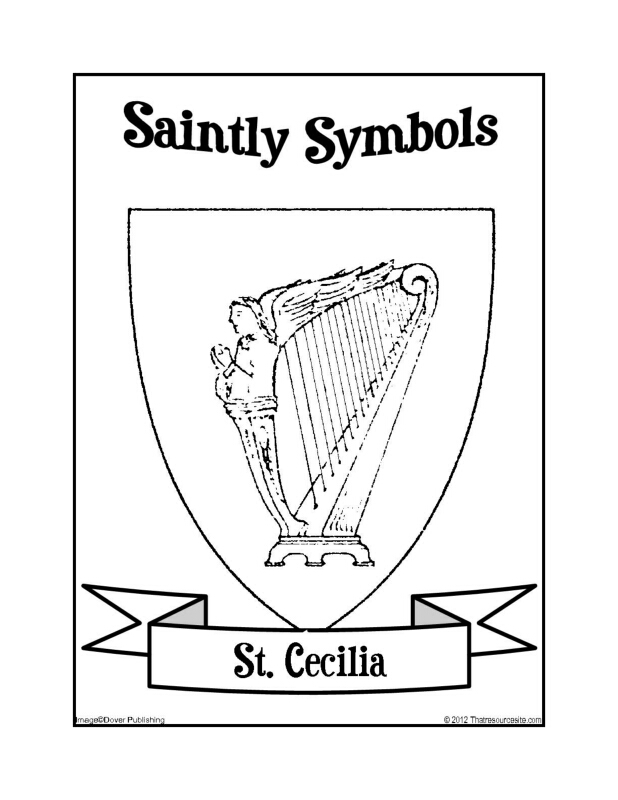 Saintly Symbols of St Cecilia
