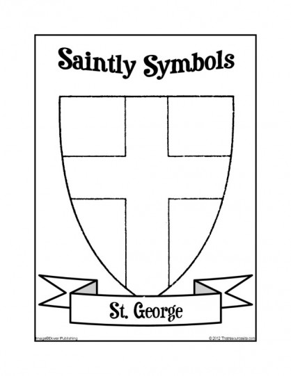 Saintly Symbols of St. George Coloring Sheet