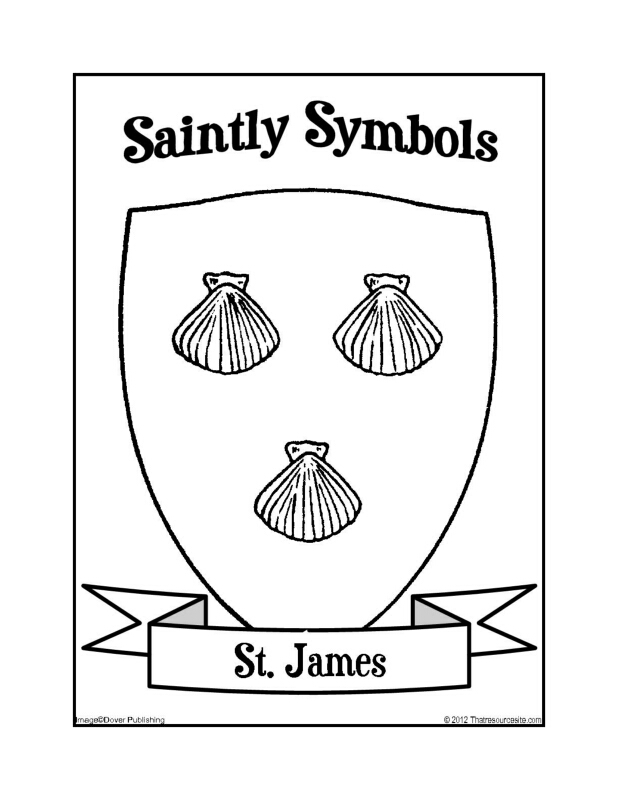 Saintly Symbols of St. James Coloring Sheet