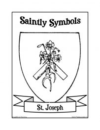 Saintly Symbols of St. Joseph Coloring Sheet