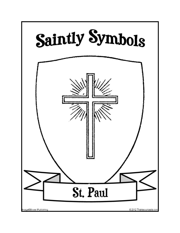 Saintly Symbols of St. Paul Coloring Sheet