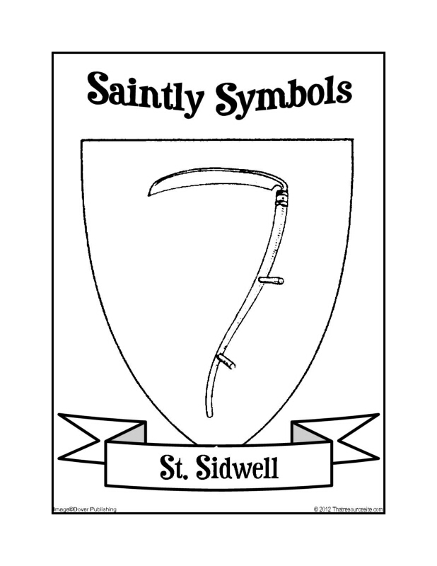 Saintly Symbols of St. Sidwell Coloring Sheet