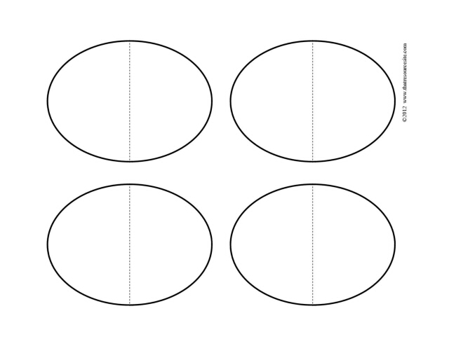 Four Small Folding Oval Blank F3 Pieces