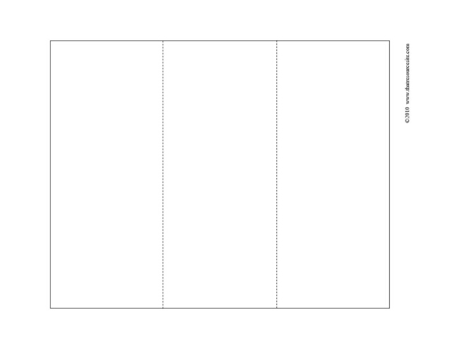 Large Rectangular Tri-Fold Blank F3 Piece