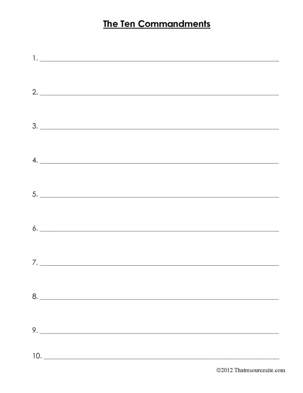 photo regarding Ten Commandments Printable Activities named Acquire the 10 Commandments Slice-N-Paste Worksheet - That