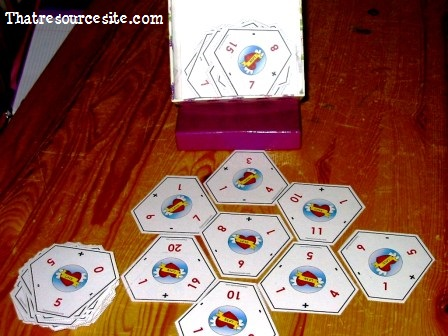 Hexaflash Add and Subtraction Card Game for Number Families 11-20