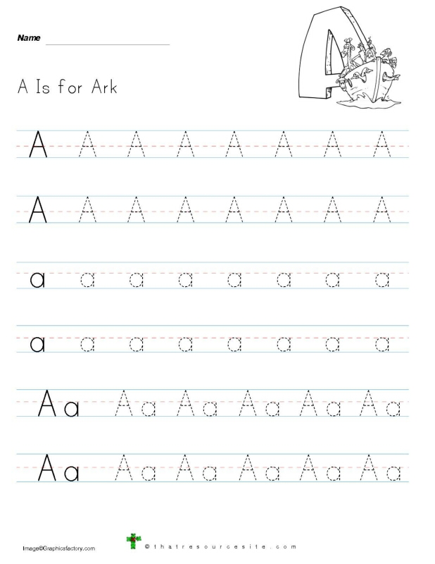 Catholic Alphabet Letter Tracing Sheets