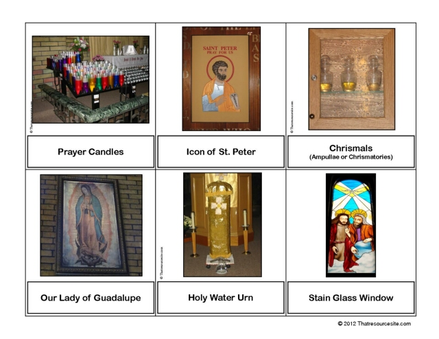 Catholic Sacramentals Montessori Cards Set 6