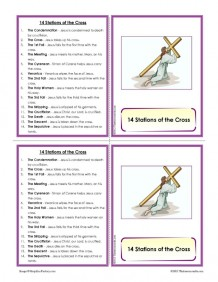 Stations of the Cross Learning Card Set