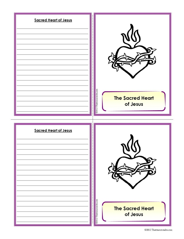 Sacred Heart of Jesus Definition Learning Card Set