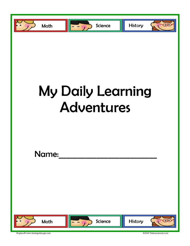 Learning Adventure Daily Planning Sheets with Subjects