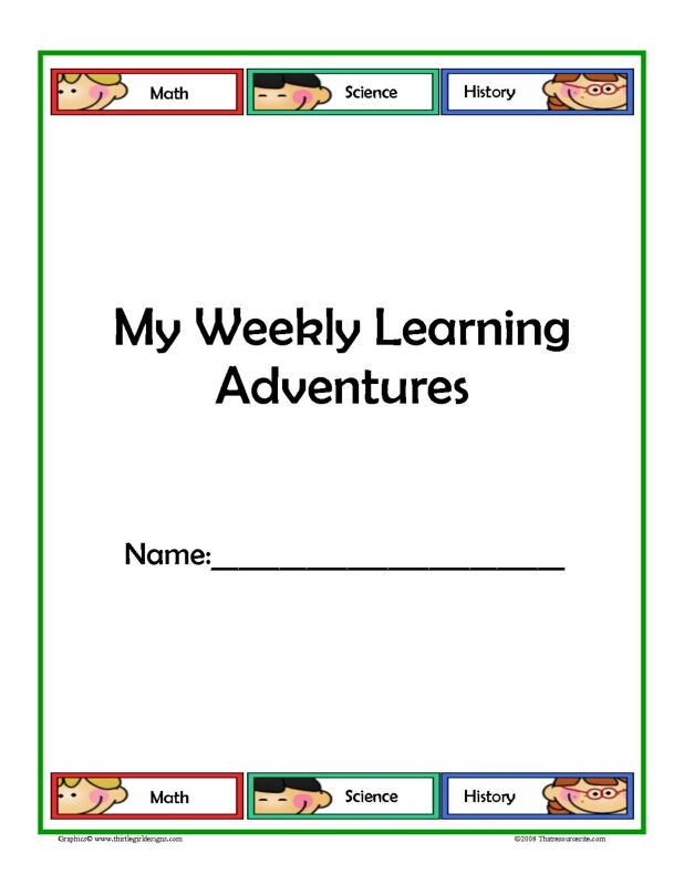Learning Adventure Weekly Planning Sheets with Subjects