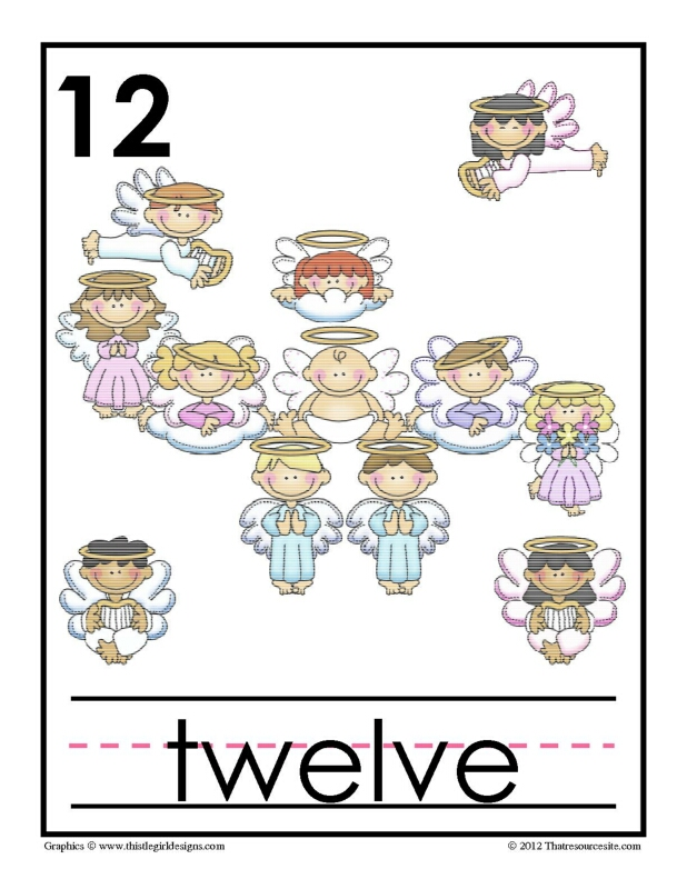 Counting with Angels from 1-20 Poster Set