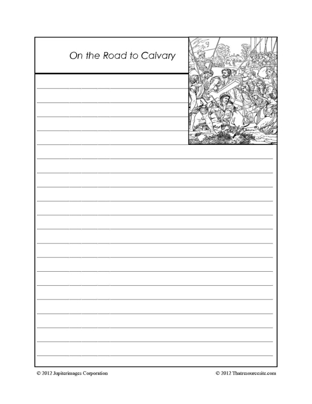 On the Road to Calvary Notebooking Set