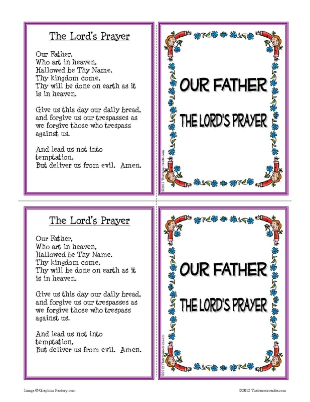 Our Father Prayer Learning Card Set