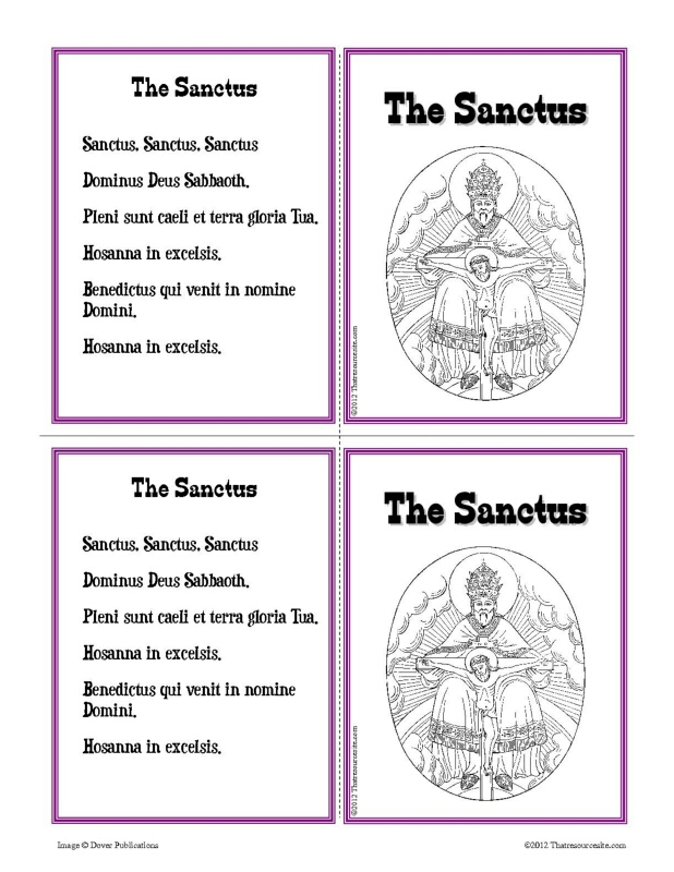 the sanctus learning card set