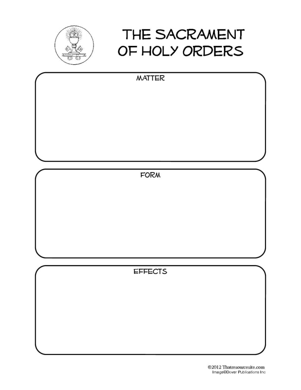Sacrament of Holy Orders Notebooking Set - That Resource Site