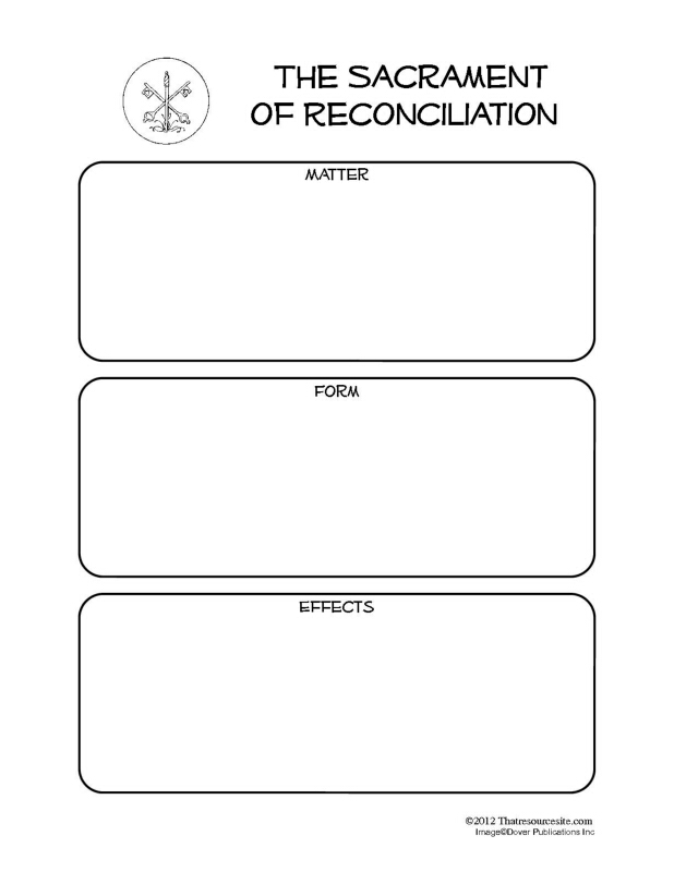 Sacrament of Reconciliation Notebooking Set
