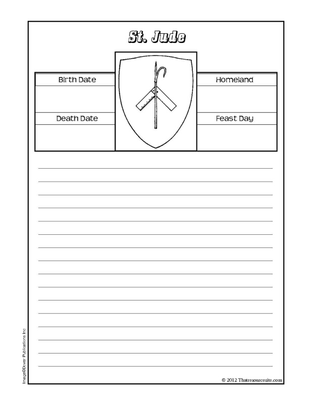 St. Jude Notebooking Sheet
