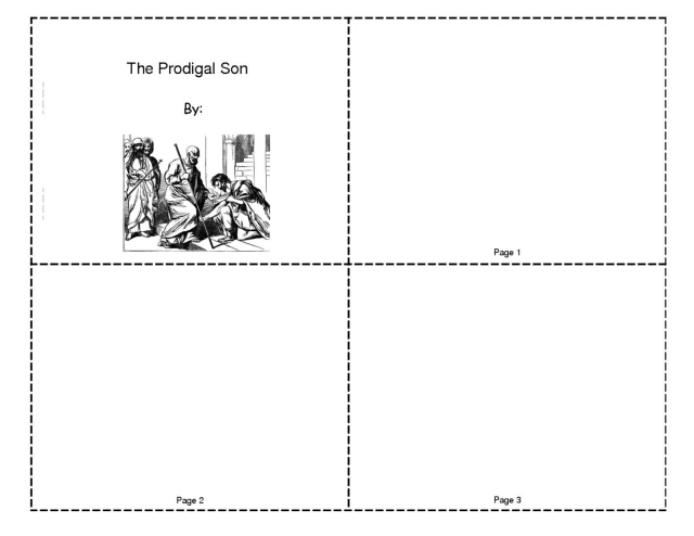 The Prodigal Son Mini-Book (Blank)