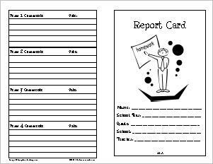 Report Card 1 – Quarterly with Grade Scale