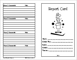 Report Card 5 – Terms with Grade Scale, Faith and Personal Development