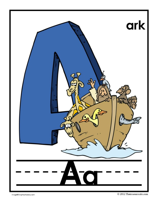 A Is for Ark Alphabet Handwriting Poster Set
