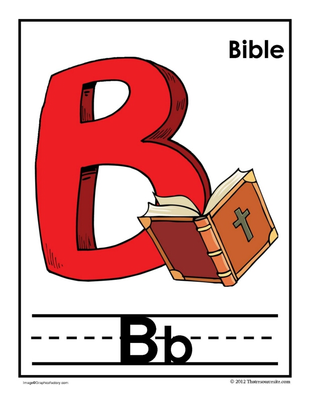 B Is for Bible Alphabet Handwriting Poster Set
