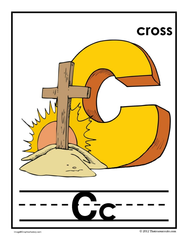 C Is for Cross Alphabet Handwriting Poster Set