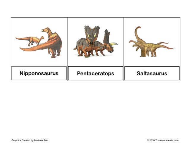 Dinosaur Montessori Cards Set 4
