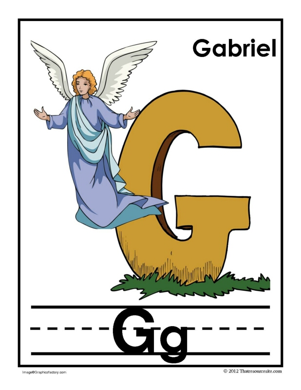 G Is for Gabriel Alphabet Handwriting Poster Set
