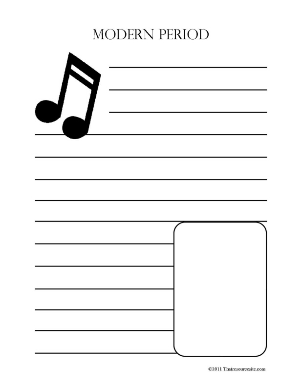 Modern Music Period Notebooking Set